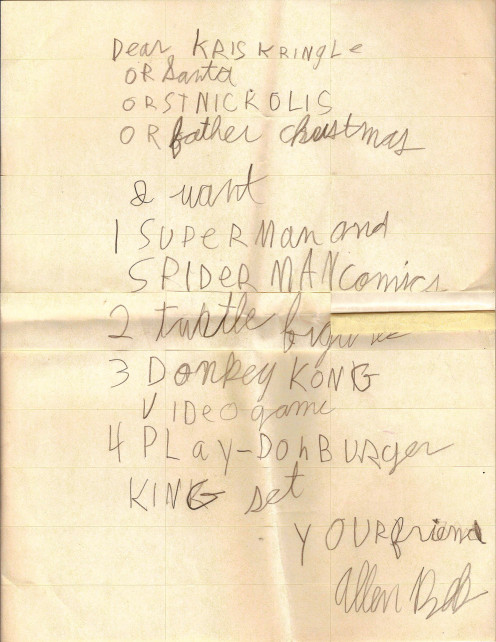Wish lists can be handwritten or keyed in and emailed. Most of us learned how to make one when we were kids.
