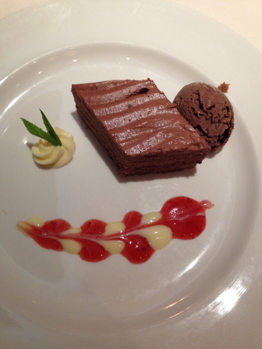 Delicious desserts in the Regency Dining Room