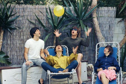 The band chilling at a home in Bel-Air, California, 1965-classic humor