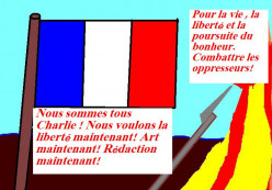 Freedom of speech and art is important to the French who are truly French.