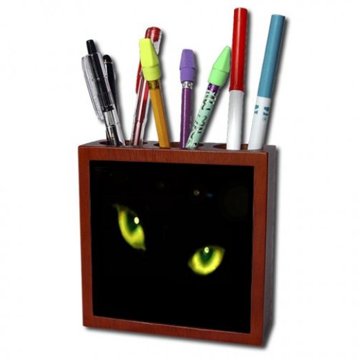 Find this on Amazon when you type in Sandy Mertens pen holders in the search or on 3DRose when you click on the Pen Holders link to the right of the page and search near the bottom of the page to find Sandy Mertens Halloween Cat Designs