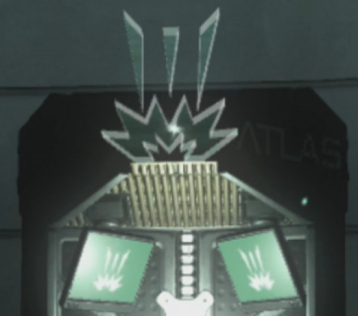 Exo Slam is marked with an icon that consists of three vertical triangle shaped lines above an explosion.