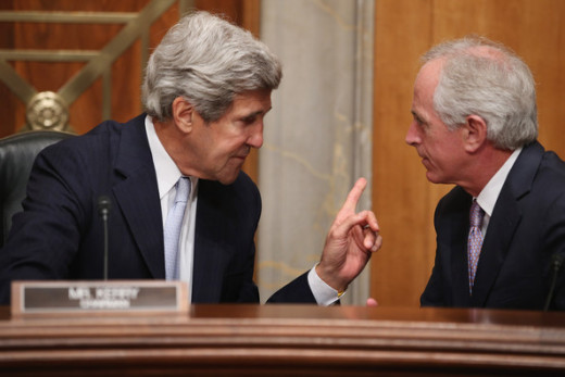 Kerry and Corker at Senate Confirmation Hearing