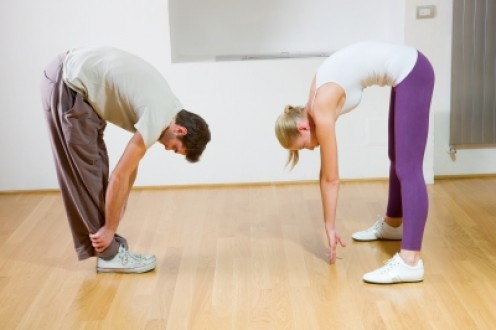 Why not involve your partner in some stretching!