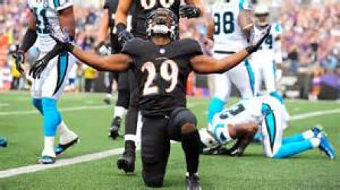 Justin Forsett celebrates a TD after a career year.