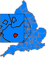 Map location of Leicester, England