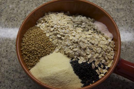 Soaking the grains
