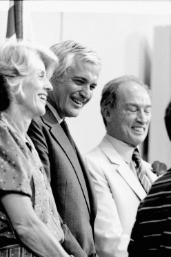 The Rt. Hon. John N. Turner with his spouse Geills Turner and The Rt. Hon. Pierre E. Trudeau, 1984