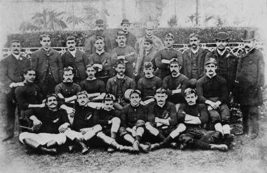 The 1888 New Zealand Native Rugby team that toured New Zealand, Australia and Britain
