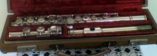 my artley concert flute. the first instrument I owned