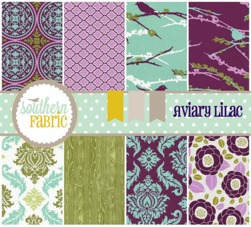 Pretty and coordinating fat quarter fabric bundle