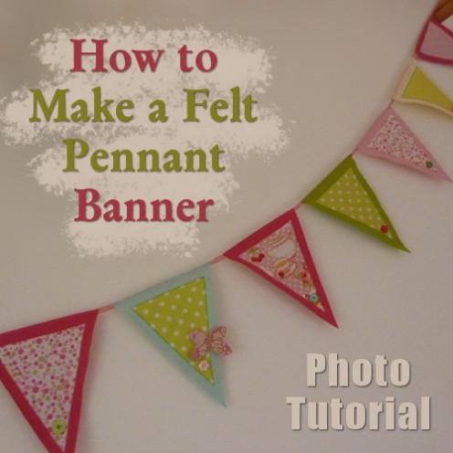 How to make a felt pennant banner