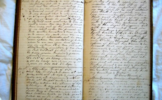 Pages of a Virginia Woolf's diary.