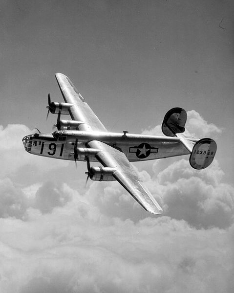 The kind of plane Louis Zamperini flew in, was a  Consolidated B-24 Liberator. (Maxwell B-24.)  From the 1940's.