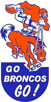 Broncos bumper sticker of the 1960s