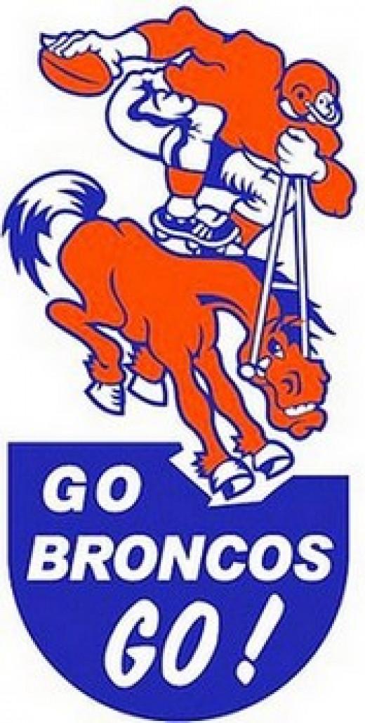 Broncos bumper sticker of the 1960s