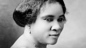 a picture of Madam C.J. Walker (because I couldn't find one of Cornelia Bowen)