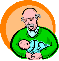 Does the baby exist? Is this man cradling his own grandfather?