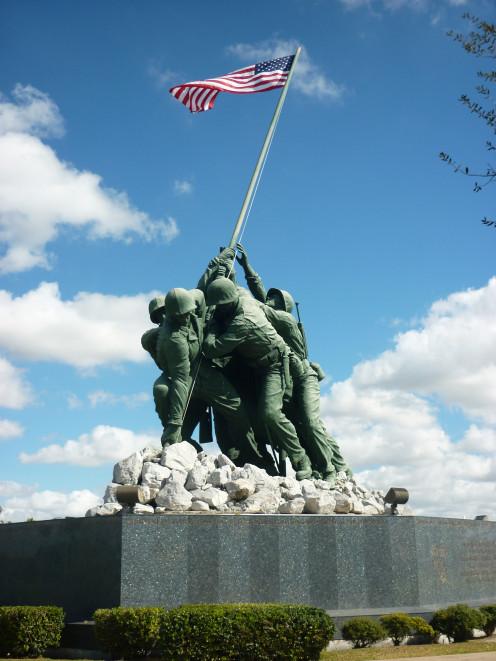 Iwo Jima Memorial Monument in Harlingen, Texas