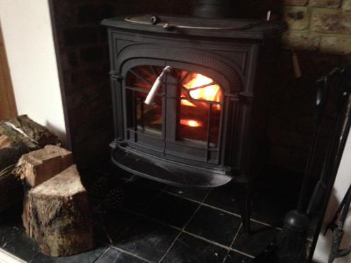 Our Wood Burning Stove!