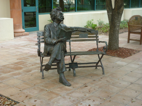 Courtyard of Harlingen, Texas library