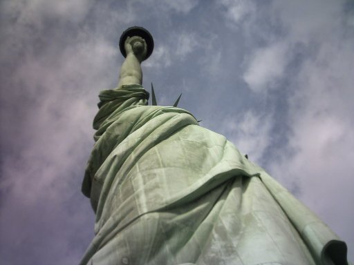 Looking up is important. You can capture views and angles that would otherwise be missed, like with Lady Liberty, Ellis Island, NY