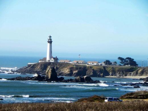 Lighthouse on Pacific Coast