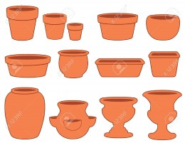 clay jars, pots and flower vases