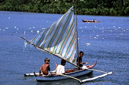 Baloto and sailboat were then used as means for travel.