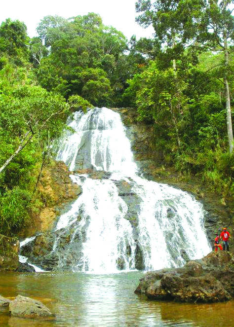 Pampang falls is but one source of potable waters