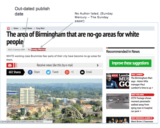 """Steve Emerson's source of information for claims about """"Birmingham no-go zones"""""""