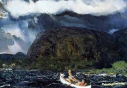 George Wesley Bellows' Painting,  In a Rowboat