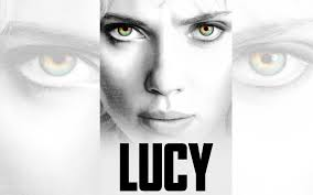 """This is a promotional image for the movie starring Scarlett Johansson called """"Lucy."""""""