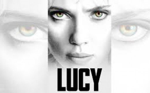 "This is a promotional image for the movie starring Scarlett Johansson called ""Lucy."""