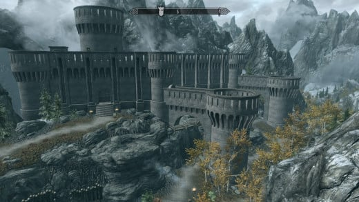 Fort Dawnguard isn't as big on the inside, but it's still a fun place for vampires to go wild in.