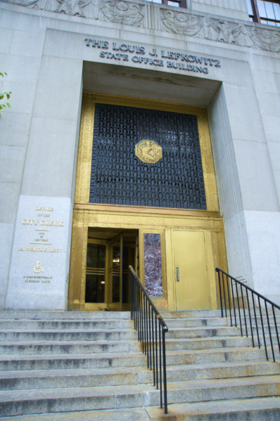 A city clerk's office building in New York.  Election processes are handled out of similar buildings.