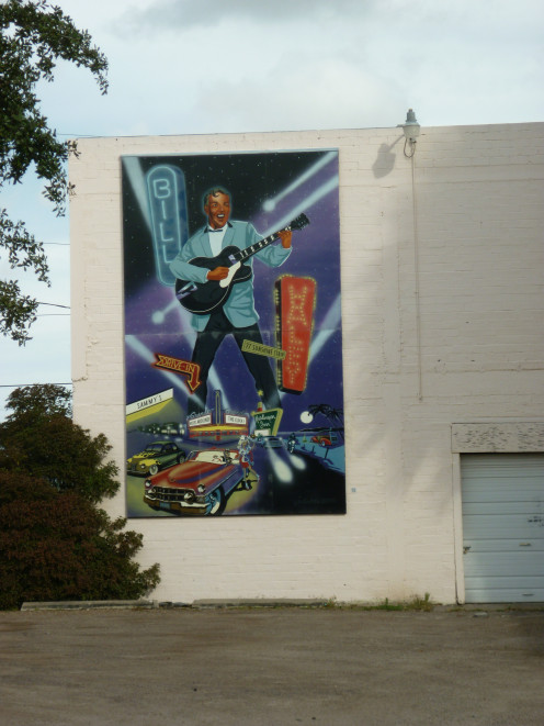 Mural in tribute to Bill Haley, Harlingen, Texas