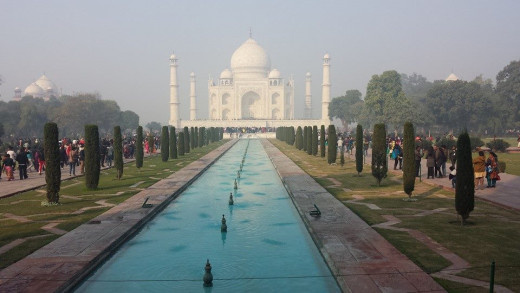 The beautiful Taj Mahal in Agra, India