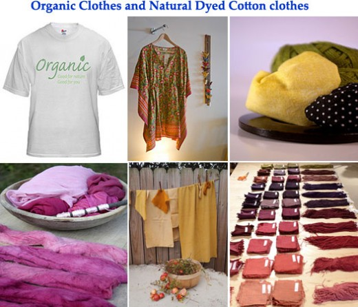 Organic natural dyes applied clothes