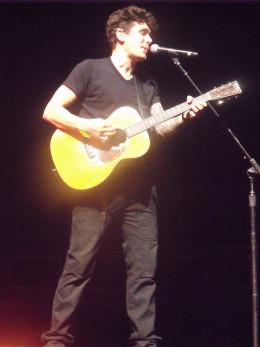 John Mayer performing in Columbus, Ohio
