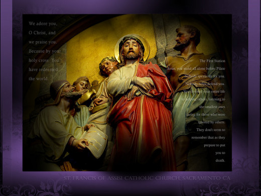 The 1st Station of the Cross