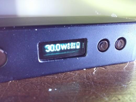 Sigelei Mini 30W, screen on