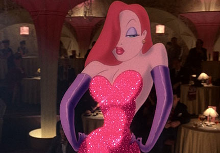 Jessica Rabbit film still.