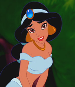 Princess Jasmine animation still.