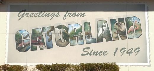 Mural at Gatorland in Kissimmee, Florida.