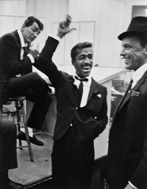 The Rat Pack rehearsing their act