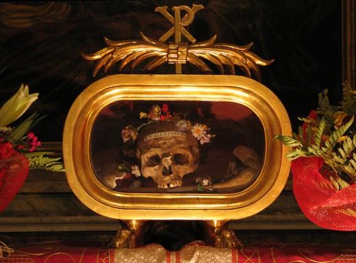 The Skull of St. Valentine of Terni