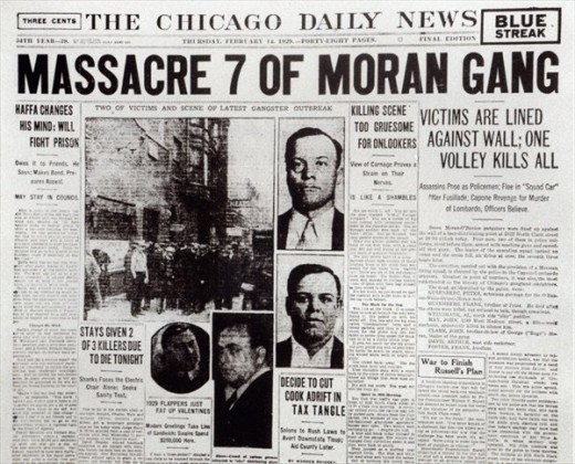Newspaper on the St. Valentine's Day Massacre