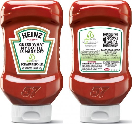 QR code on Heinz bottle
