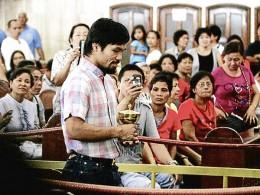 Pacquiao attends Quiapo mass
